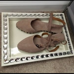 Coach suede flats with ankle strap-New